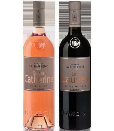 Gamme vin de Bandol rouge rosé - Domaine la Suffrène