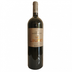photo d'une grande bouteille de vin rouge