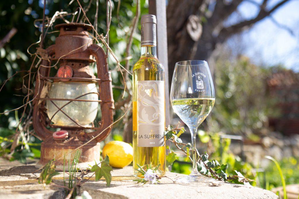 Vin blanc doux 100% Sauvignon Vin de France du Domaine la Suffrène